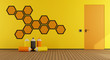 Yellow and orange playroom