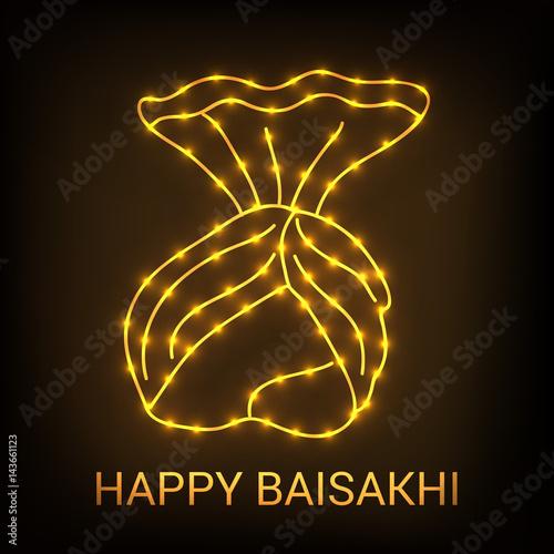 Αφίσα  Happy Baisakhi.