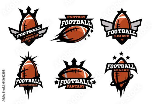 Fotomural  American football set of logos.