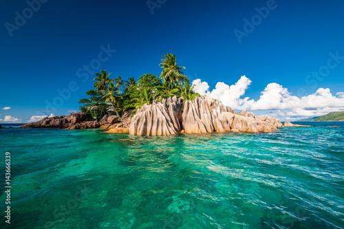 Deurstickers Eiland St. Pierre Island at Seychelles