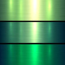 Metal Green Texture Background, Brushed Metallic Texture