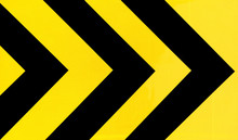 Yellow And Black Traffic Sign Curve