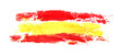 Leinwandbild Motiv Long flag of Spain