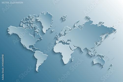 Cadres-photo bureau Carte du monde World map.
