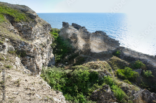 Photo sur Aluminium Ile Seashore. Tarhankut, Dzhangul Russian Crimea at summer