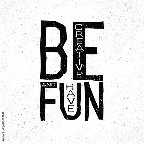 Bądź kreatywny i baw się inspirującą koncepcją cytatu.
