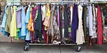 Rack Of Used Womens Dresses.