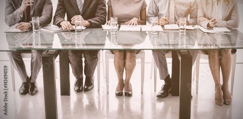 Fotografie, Obraz Panel of corporate personnel officers in office
