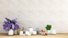 Purple Flower With Kitchen Set...