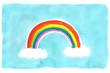 青空にかかる虹 A rainbow for the blue sky