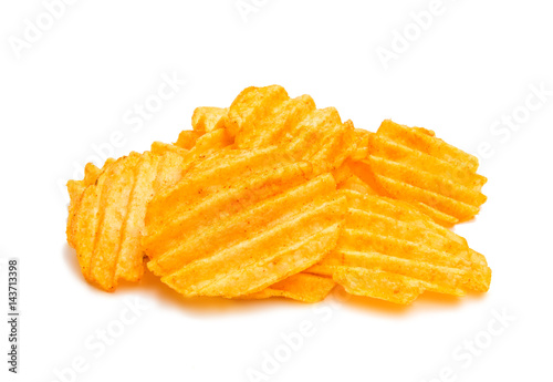 Fotografie, Obraz  Wavy potato chips