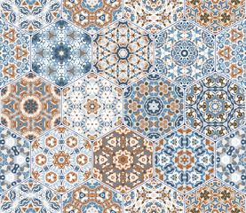 Fototapeta Vector set of hexagonal patterns.