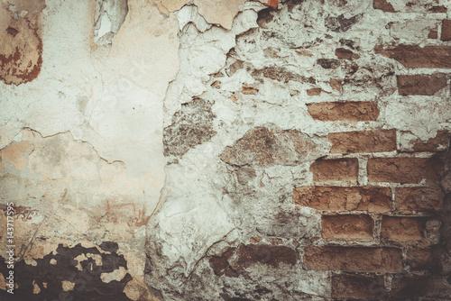 Foto auf AluDibond Alte schmutzig texturierte wand painted cracked wall texture