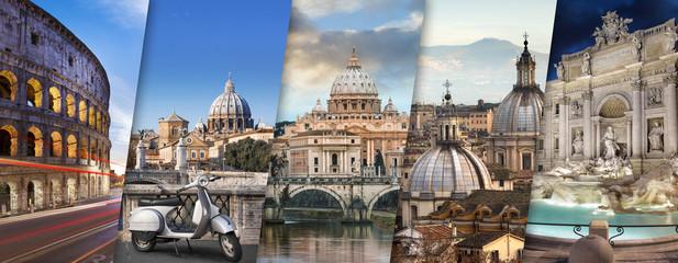 Panel Szklany Rzym Rome et Vatican Italie