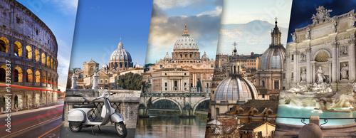 Spoed Foto op Canvas Rome Rome et Vatican Italie