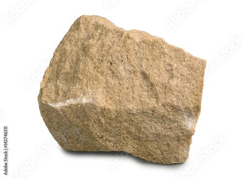 Obraz na plátně Mineral stone sandstone isolated on white background.