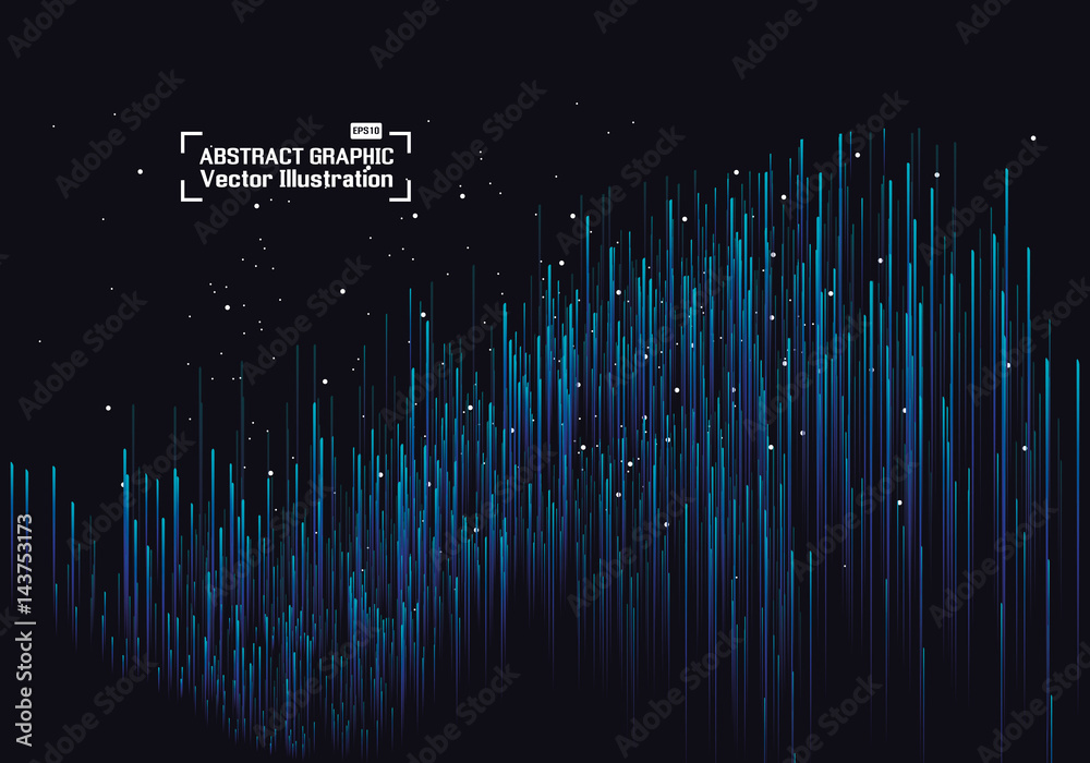 Fototapeta Lines composed of glowing backgrounds, abstract vector background