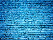 Blue Brick Wall Background Texture For Design, Stone Plate