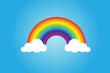 Rainbow icon flat.