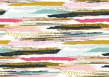 Wektor wzór z ręcznie rysowane złoty brokat teksturowanej pociągnięcia pędzlem - 143763121
