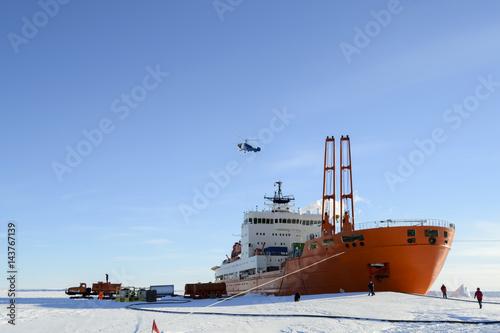 Fotografie, Obraz  Ship in Antarctic ice