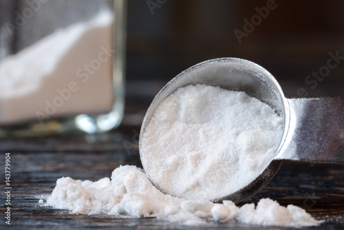 Arrowroot Powder Spilled from a Teaspoon Canvas Print