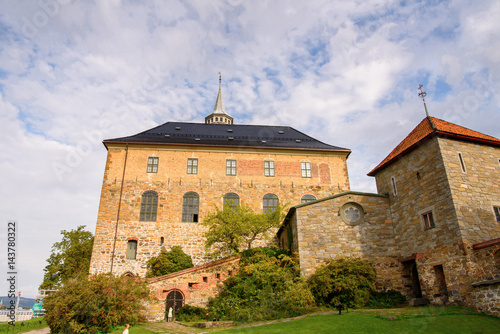 Akershus Fortress, a medieval castle that was used as a prison, Oslo, Norway Poster