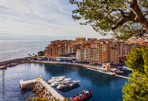 Foto auf AluDibond Stadt am Wasser Monaco and Monte Carlo principality, south of France