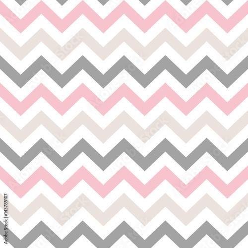 Naklejka dekoracyjna Chevron zigzag Seamless Pattern