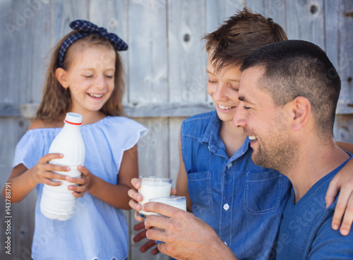 Family and food concept