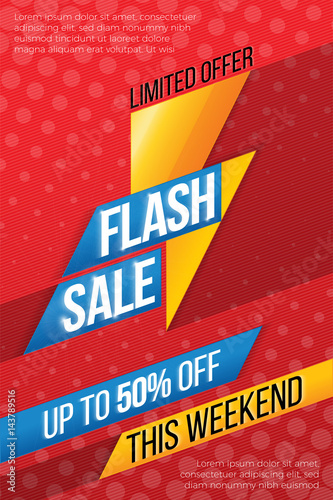 Flash sale price offer deal vector labels templates stickers des ...