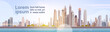 City Skyscraper View Cityscape Background Skyline with Copy Space Vector Illustration