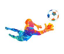 Goalkeeper, Ball Abstract