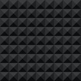 Bezszwowy czarny abstrakcjonistyczny geometryczny ciemny cienia fasety wzór - 143810920