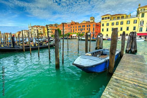 Foto op Plexiglas Venetie Famous Canal Grande with gondolas in Venice, Italy, Europe