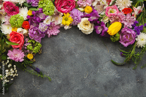 Fotobehang Bloemen Floral frame