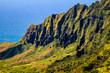 Kalalau valley cliffs at Na Pali coast, Kauai, Hawaii