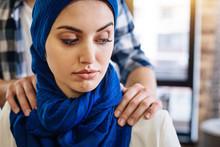 Muslim Woman Beign Herrased By...