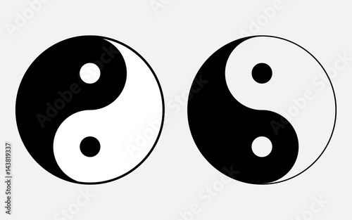 Vector Illustration Of The Sign Of Chinese Philosophy Of The Symbol