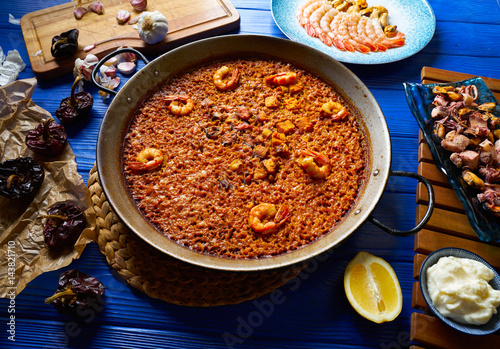 Seafood Paella senyoret rice from Spain