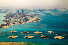 Aerial View Of City Doha, Capi...