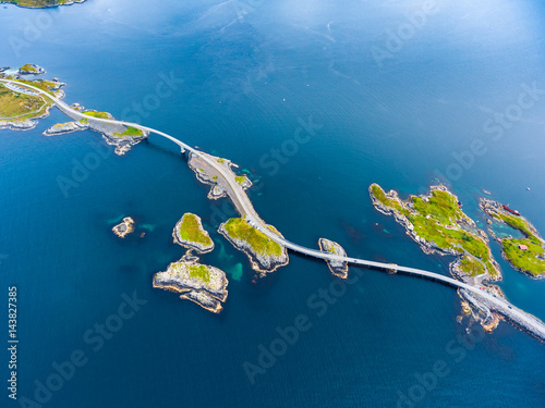Photographie Atlantic Ocean Road aerial photography.