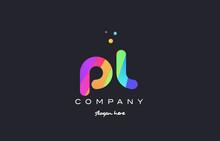 Pl P L  Colored Rainbow Creati...