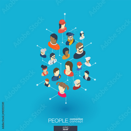 Community integrated 3d web icons digital network isometric community integrated 3d web icons digital network isometric interact concept connected graphic design dot sciox Gallery