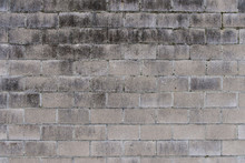 White Withered Brick Wall With...