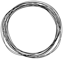 Abstract Hand Drawn Scribble Doodle Circle