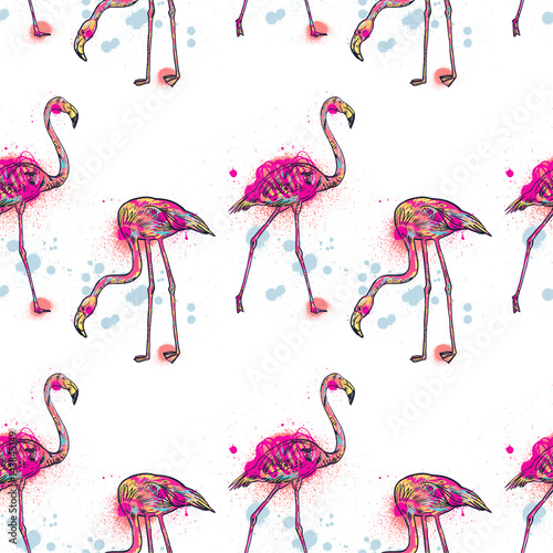 Canvas Prints Flamingo Pink flamingo illustration