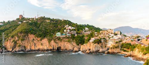 Fotografija  The rock La Quebrada, one of the most famous tourist attractions in Acapulco, Mexico
