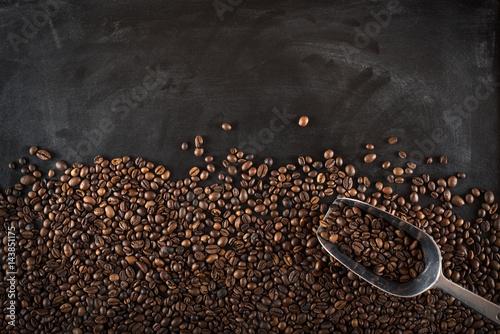 Poster Café en grains Background coffee beans