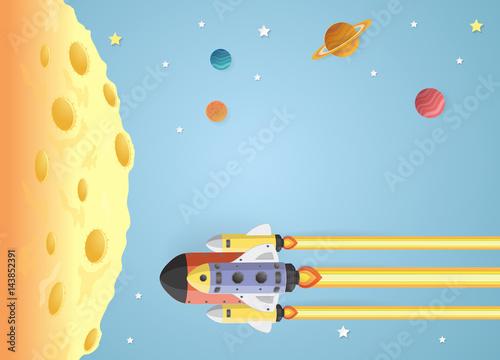 kreskowka-satelita-i-statek-kosmiczny